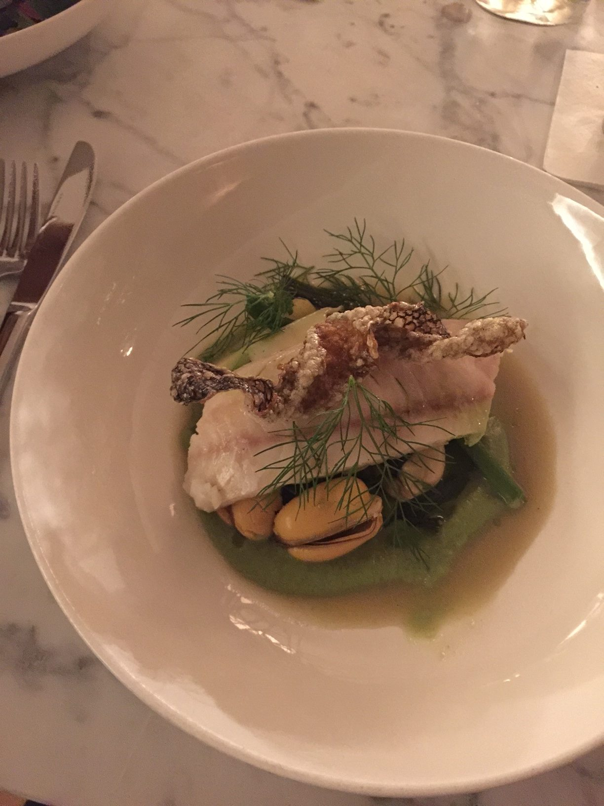 Black Bass at The Finch restaurant by Mad Hungry